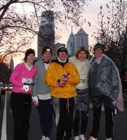 the four of us marathoners with our matriarch, Shawn