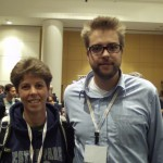 Me with Dries Buytaert, Drupal founder