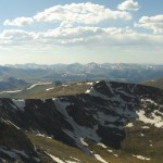 View from summit of Mt. Evans