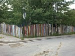 In Leadville - a fence made of skis