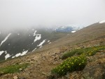 Clouds rolling in on the ascent on Mt. Elbert