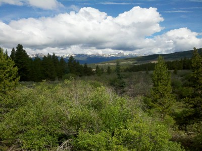 A view of south of Leadville from north of Leadville