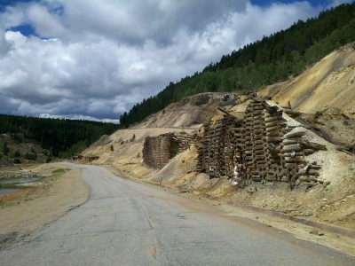Old mining remains around Leadville