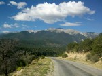 Heading down the road into Mt. Princeton Hot Springs