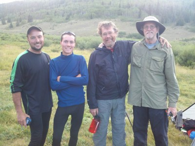 Mike and Austin (father-son duo) and Bill and Keith (hiking buddies since college)
