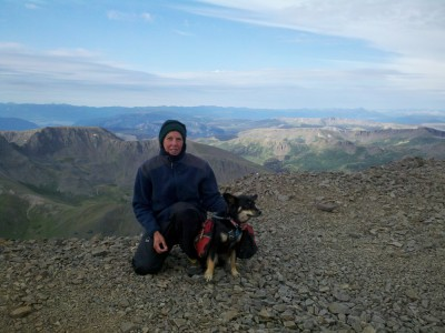 On the summit of San Luis - a 14er not far off the CT