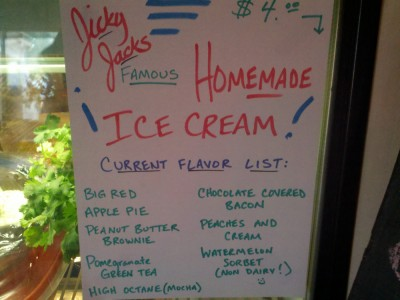 In Creede - bacon flavored ice cream?  Really?