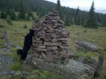 Cassie checks out a Cairn
