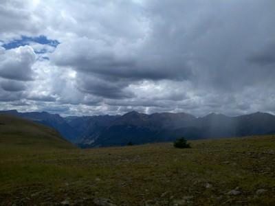 Storms at 12,000 ft!  Yikes!