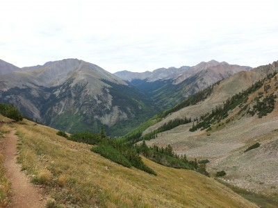 Heading down the south side of Hope Pass
