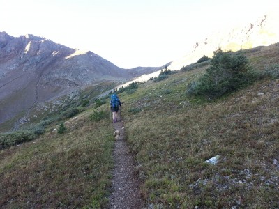 Heading up Lake Ann Pass