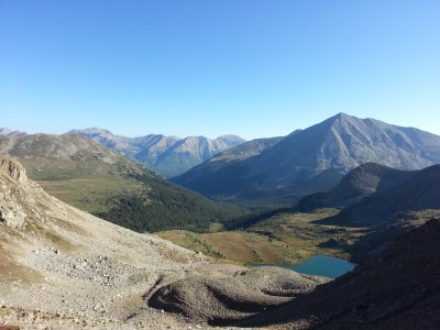 From the top of Lake Ann Pass